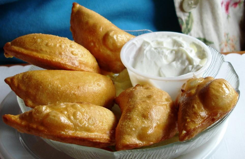 Deep fried pierogi - the usual bar grub