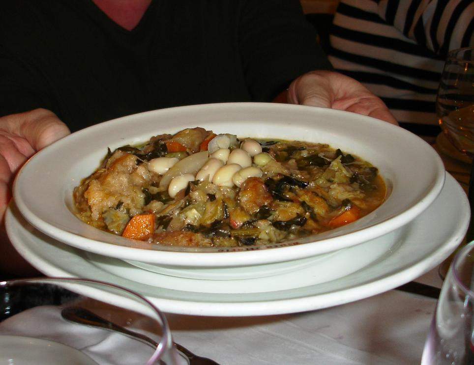Classica Ribollita alla Fiorentina: Buca Mario's ribollita was one of the best.  This one had a more complex flavor and was more like a thick chowder than a porridge.