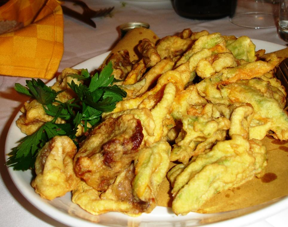 Fior di Zucca Fritti: Everyone kept ordering fried squash blossoms wherever we went.  A big favorite.  They have a very pleasant sweet vegetable taste.