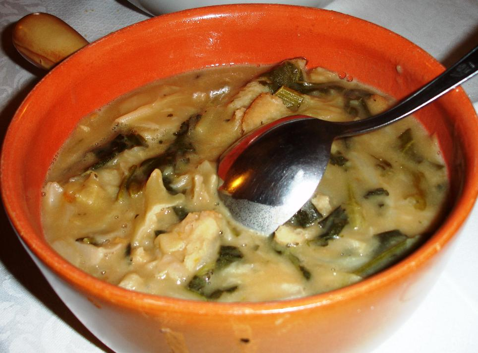 Ribollita, the Tuscan cabbage soup thickened with bread