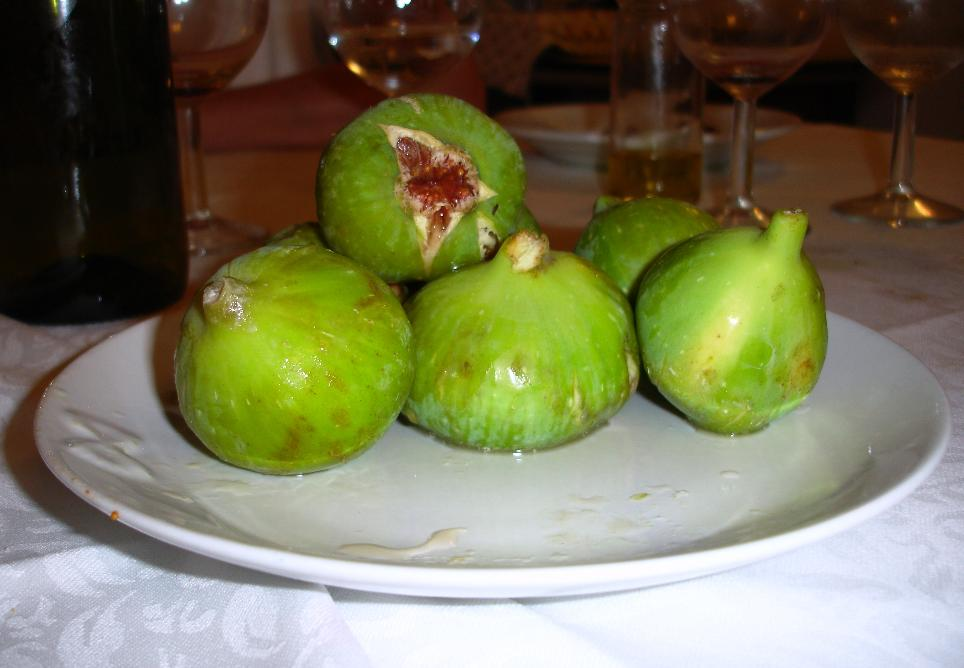 After we were done with lunch, the owner went out to his fields and picked some figs for us.