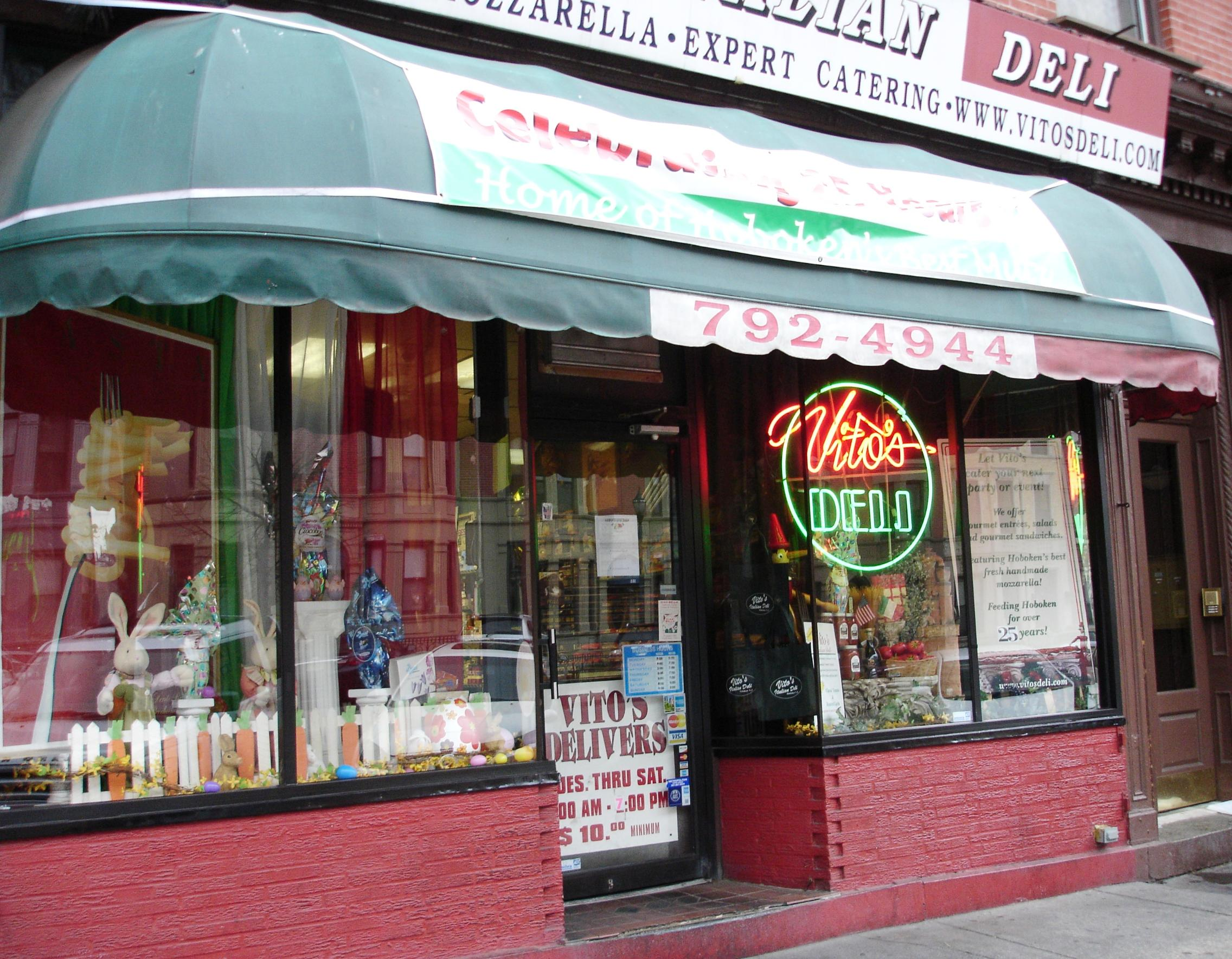 Washington Street is Hoboken's main drag, where you'll find just about anything you want to eat, from sushi to chicken tikka masala, along with a disturbing number of branches of national chains. Vito's Deli is one of a kind.