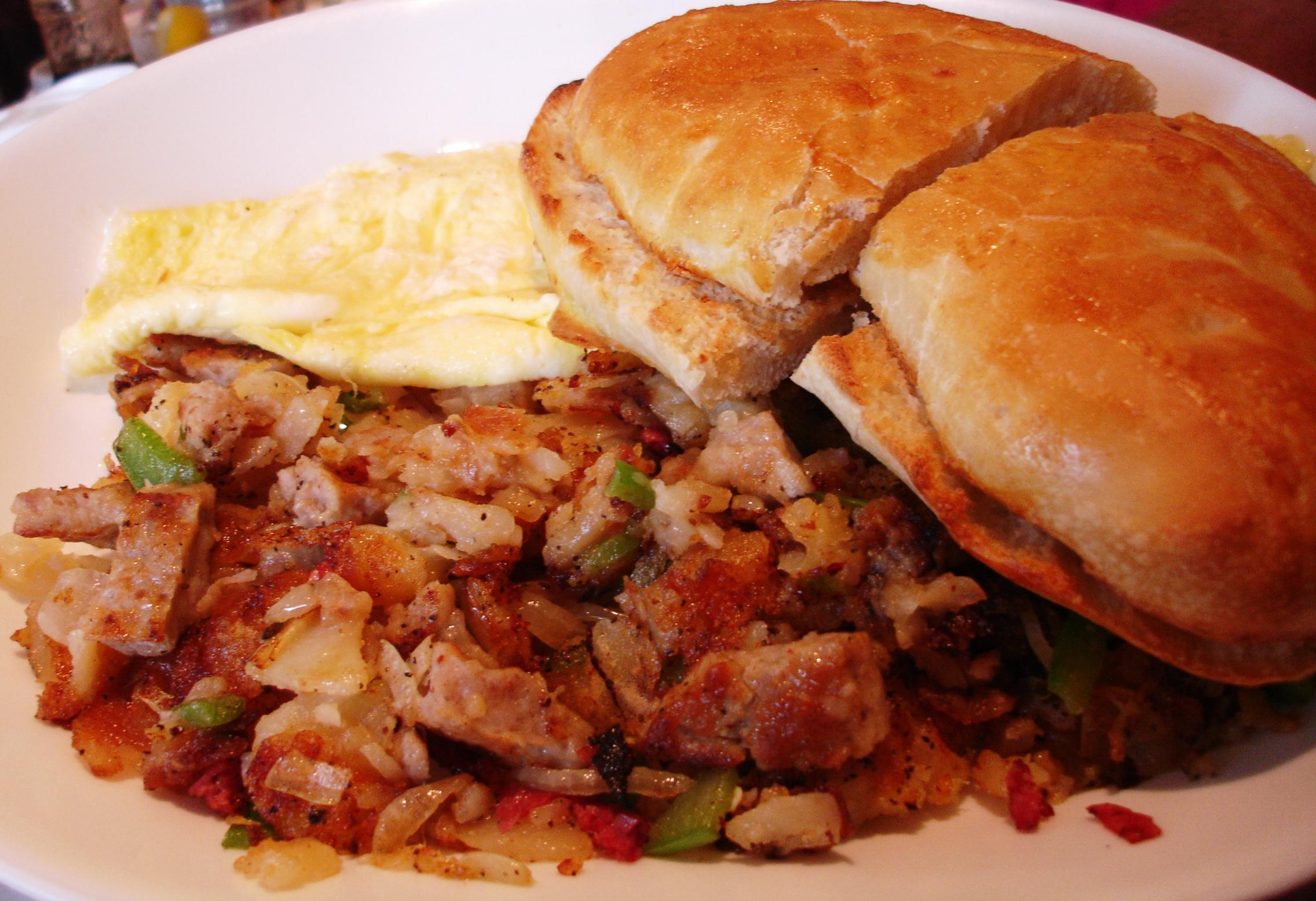 For a change of pace from the usual corned beef, try Woody's sausage hash.
