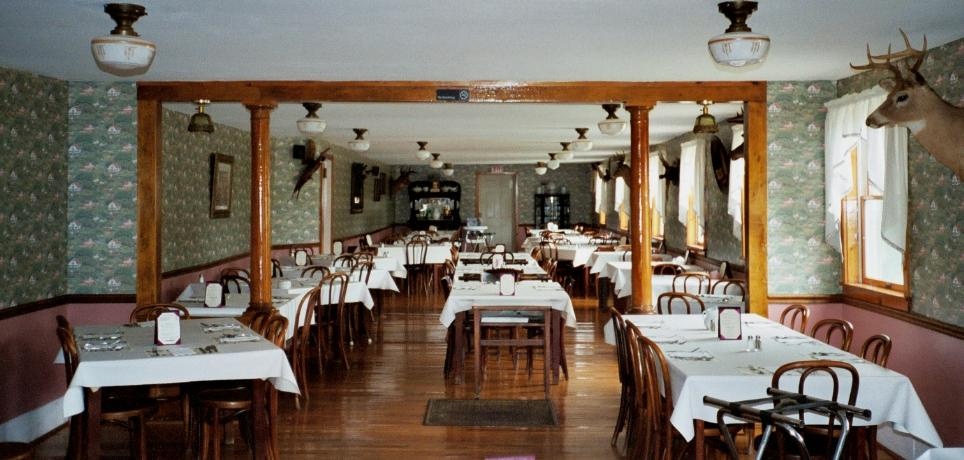 One of many rooms at the restaurant