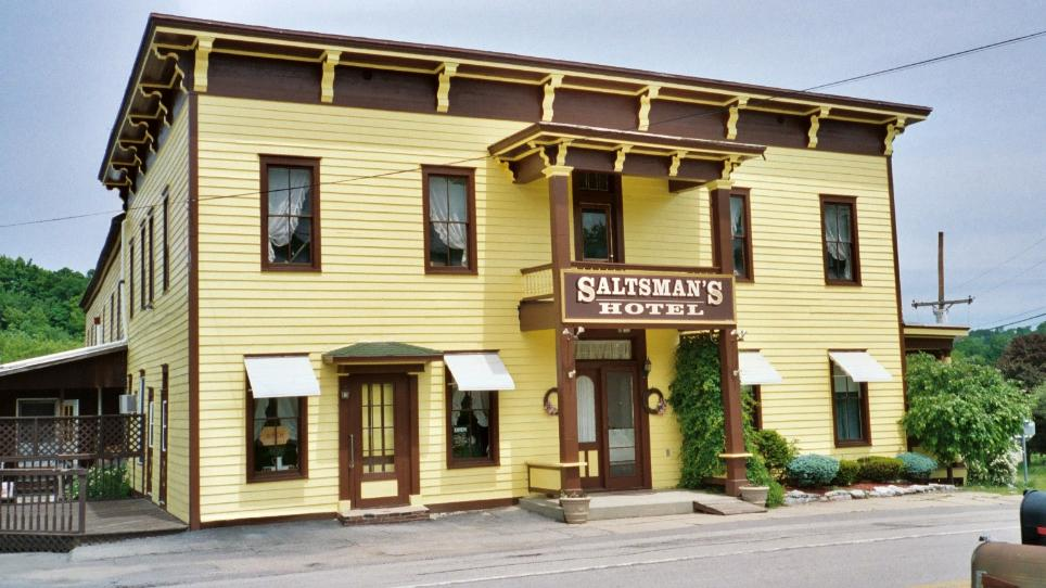 Saltsman's has been open ever since it was built in 1813 as Apollo Hall.