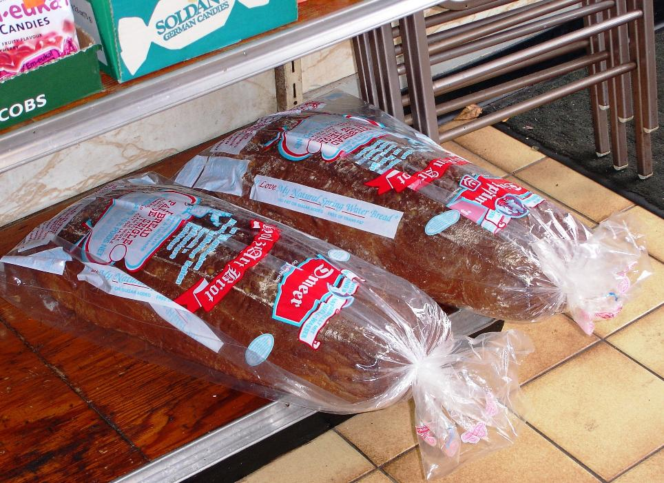 Giant loaves of German-style bread are available to take home.