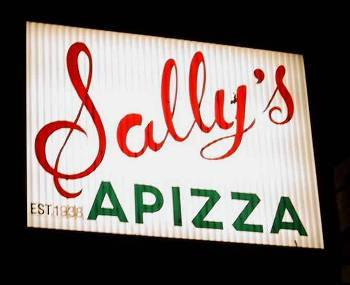 Sign, Sally's Apizza, New Haven, CT