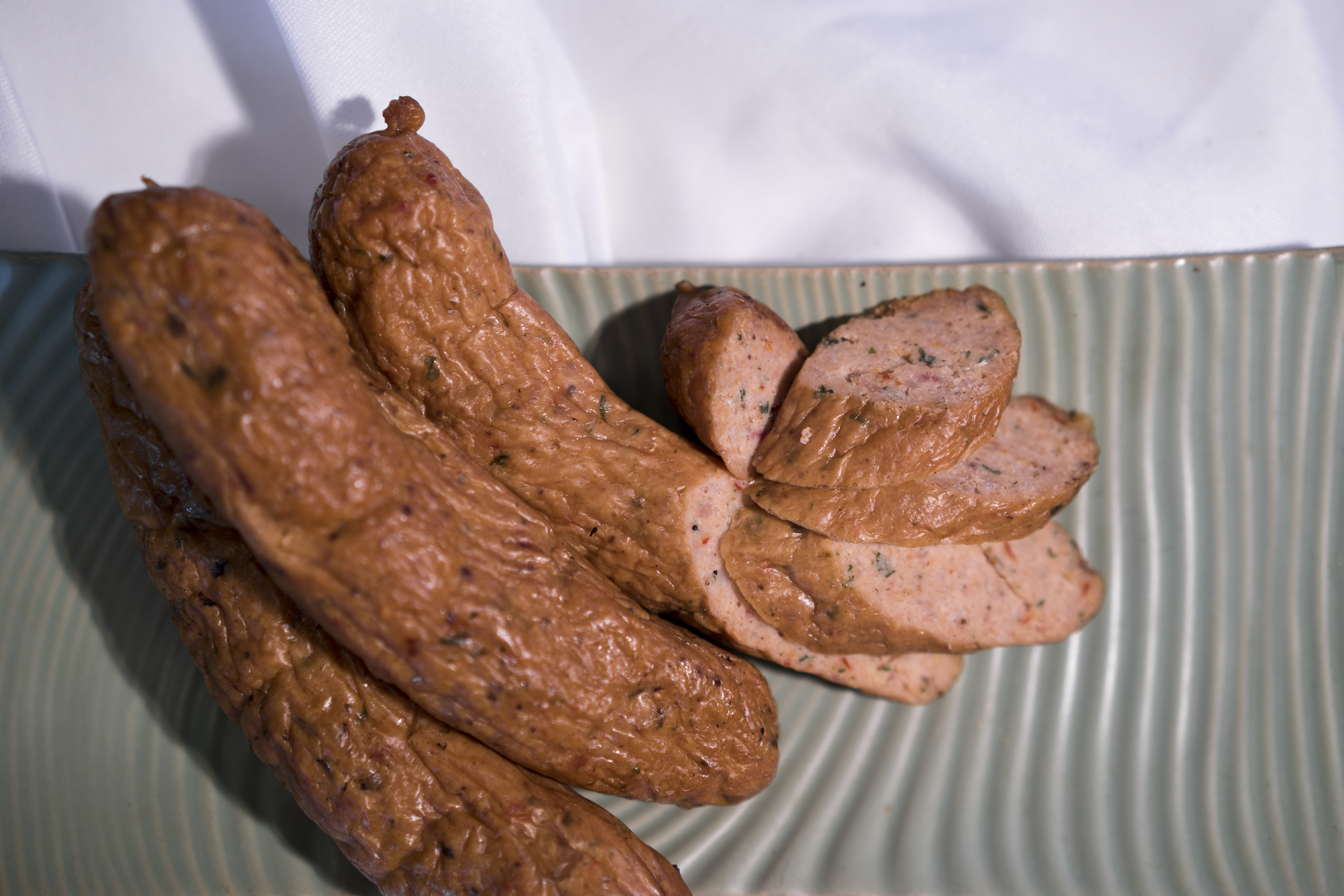 One of Northern Waters' most unique offerings is their whitefish sausage.