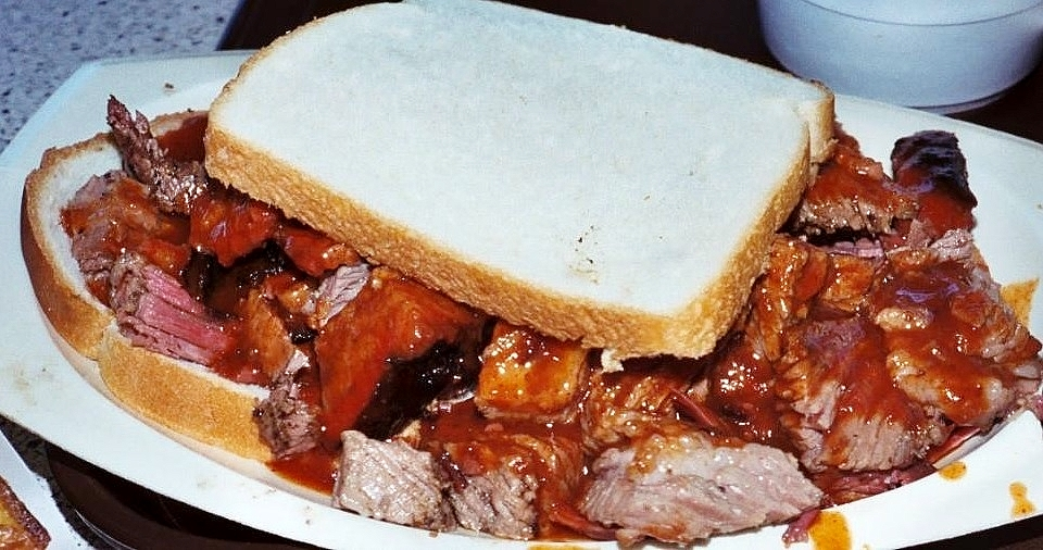 "Any barbecue tour of America must include the burnt ends ""sandwich"" from L C's in Kansas City."