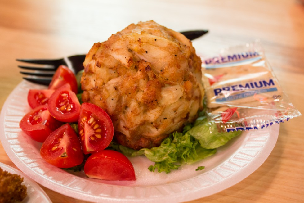 Faidley's jumbo lump crab cake is about as good as it gets, in Baltimore or anyplace else.