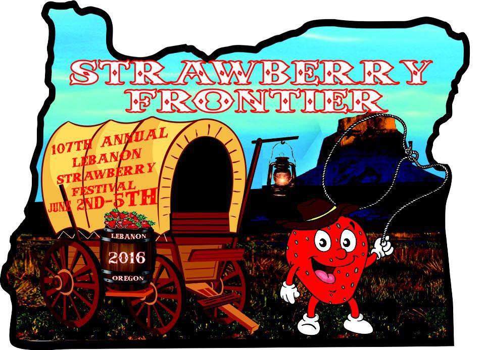 Banner, Lebanon Strawberry Festival, Lebanon, OR