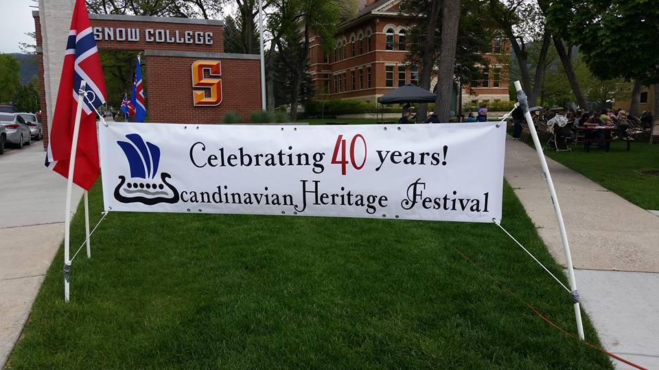 Banner, Scandinavian Heritage Festival, Ephraim, UT