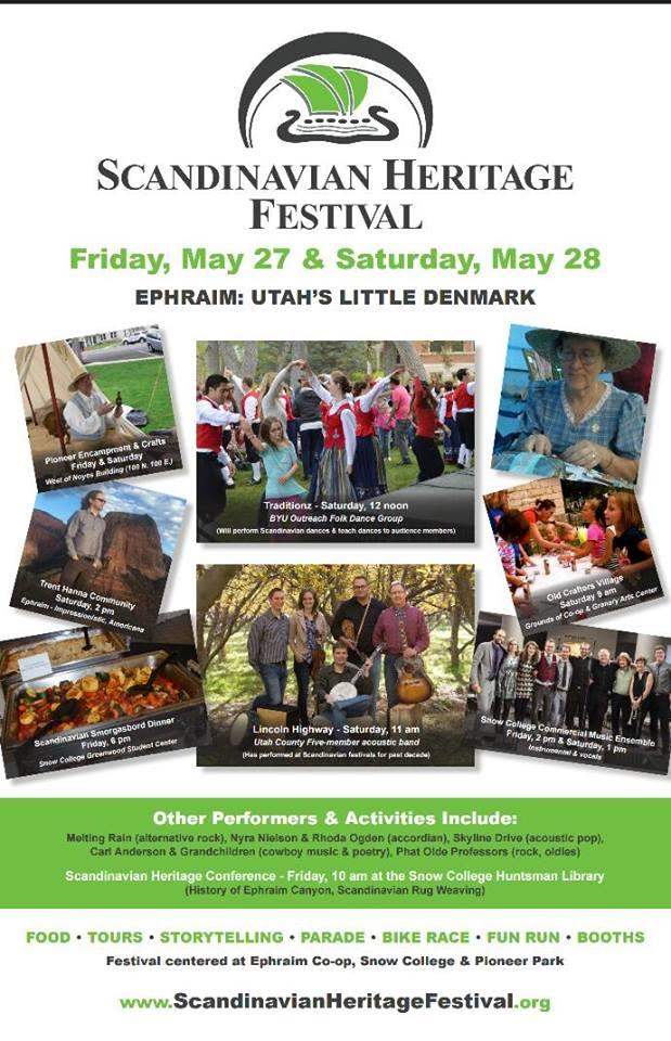 Poster, Scandinavian Heritage Festival, Ephraim, UT