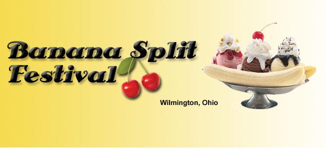Banner, Banana Split Festival, Wilmington, OH