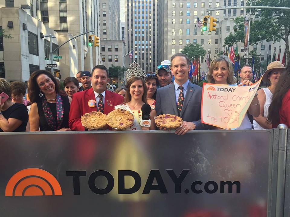 The National Cherry Queen maker her pitch on The Today Show.