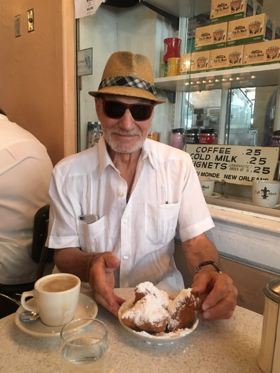 Patrick Stewart, Cafe du Monde, New Orleans, LA